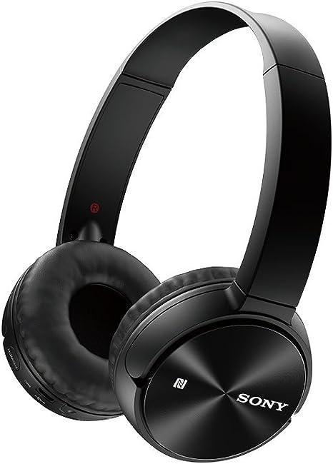 Sony MDR-ZX330BT - Auriculares Supraurales Bluetooth NFC (Sistema de Carga Rápida), Negro, 25: Sony: Amazon.es: Electrónica