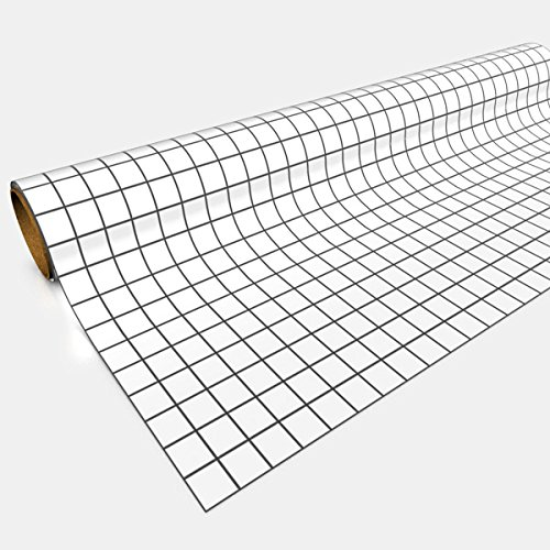 White Gaming Paper 1in Squares 30in x 12ft 1 ()