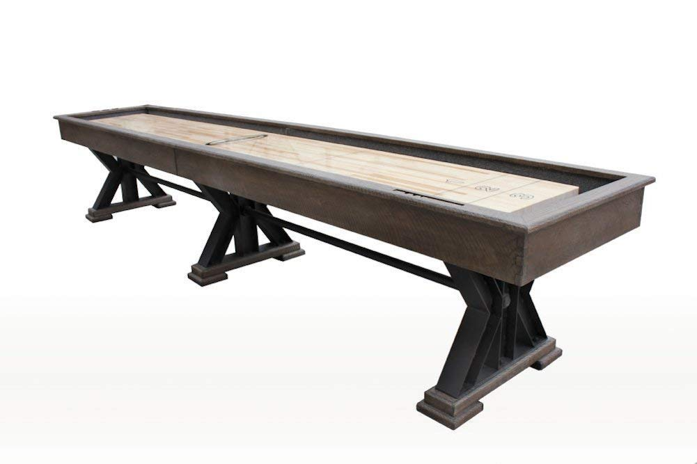 Berner Billiards The Weathered 18 Foot Shuffleboard Table in Desert Sand by Berner Billiards