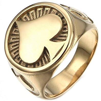 Amazon.com: lilileo oro de joyería anillos de acero ...