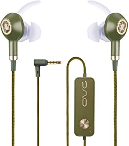 OVC Active Noise Cancelling Earbuds Earphone Wired ANC Headphone - 60 Hours Playtime, Dual Driver, Bass Enhancement, Volume Control with Microphone, 3.5mm Plug for Android (Green)