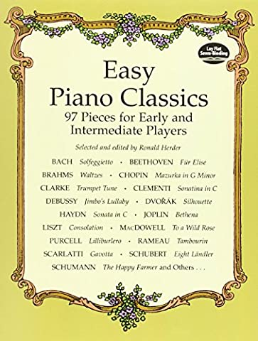 Easy Piano Classics : 97 Pieces for Early and Intermediate Players (Piano Sheet Music Easy Adult)
