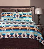 Carstens Southwest Harvest 5 Piece Cotton Printed Quilt Bedding Set, Queen