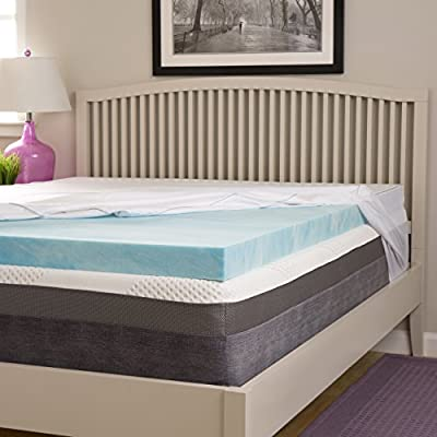 Simmons Beautyrest Comforpedic Loft from Beautyrest Choose Your Comfort 3-inch Gel Memory Foam Mattress Topper with Egyptian Cotton Cover Firm Full