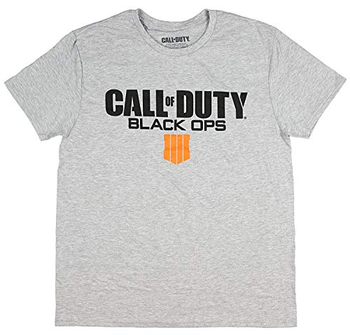 Bioworld Call of Duty Black Ops 4 Shirt Men's Video Game Logo T-Shirt, Heather Grey, X-Large