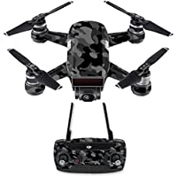 Skin for DJI Spark Mini Drone Combo - Black Camo| MightySkins Protective, Durable, and Unique Vinyl Decal wrap cover | Easy To Apply, Remove, and Change Styles | Made in the USA