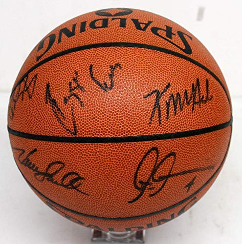 1992 CELTICS TEAM SIGNED AUTOGRAPHED BASKETBALL REGGIE LEWIS McHALE PARISH - JSA Certified - Autographed Basketballs