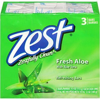 (Zest Deodorant Bars Fresh Aloe, 12 OZ)