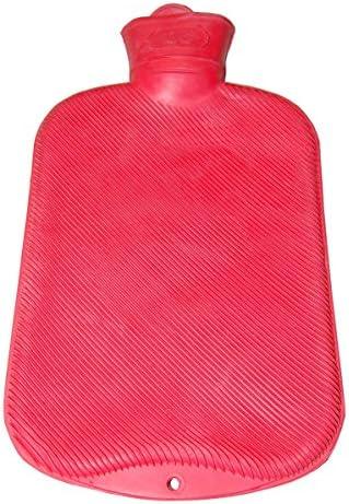 FabaCare Wärmflasche 2 L Gummi, Naturgummi Wärmeflasche mit Doppel-Lamellen, Premium Gummiwärmflasche, Blau