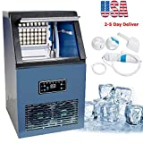 Zinnor Ice Making Machine Commercial Ice Maker Auto Maker Cube Machine 50KG Stainless Steel Bar 230W