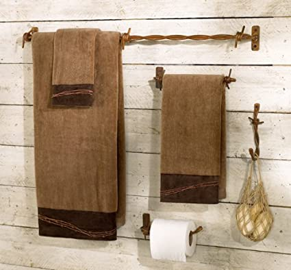 Amazon.com: Barbed Wire Bath Hardware Set - 4 Pcs: Bathroom ...