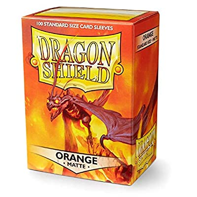 Dragon Shield Matte Orange Standard Size 100 ct Card Sleeves Individual Pack: Toys & Games