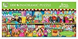 Andrews + Blaine Sweet Shoppe Panoramic Puzzle, 1000-Piece