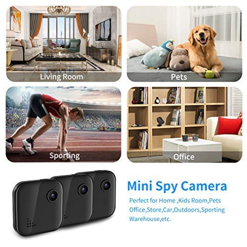 Wireless Home Security Camera WiFi Spy Camera Mini Hidden Camera Audio and Video Recording, Small House Camera Dog Camera/Baby Monitor/Nanny Cam, Remote Control on Phone App