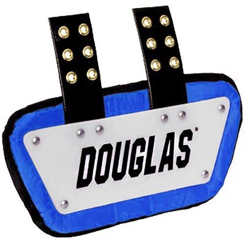 Douglas Custom Pro CP Series Removable Football Back Plate - 6 Inch - White/Royal