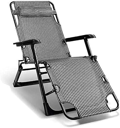 ADHW Sun Silla Tumbona, Muebles de jardín, Camping de jardín Sillas de Ruedas, Plegable Gravedad Cero reclinable, Silla sillas de Playa for Adultos (Color : Gray): Amazon.es: Hogar