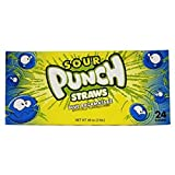 Product Of Sour Punch Straws, Blue Razamatazz, Count 24 (2 oz) - Sugar Candy / Grab Varieties & Flavors