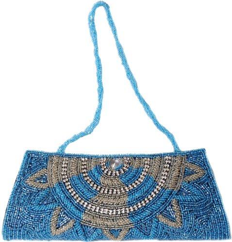 Blue Azul Atoll Mujer Cartera De Mano Para India Exotic FnCZwqY0n