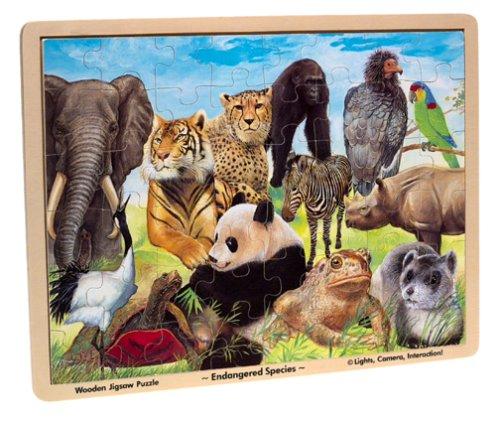 Melissa Doug Endangered Species Wooden Jigsaw Puzzle 48 Pieces