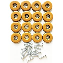 """16-Pack 1""""(25mm) PTFE Furniture Glides with Screws,Furniture Glider,Screw Furniture Slider,Furniture Mover,Furniture Sliders,Furniture Movers Glide Gliders"""