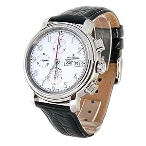 Revue Thommen 17072,6133 - Reloj cronógrafo automático para hombre, correa de cuero color marrón (cronómetro)