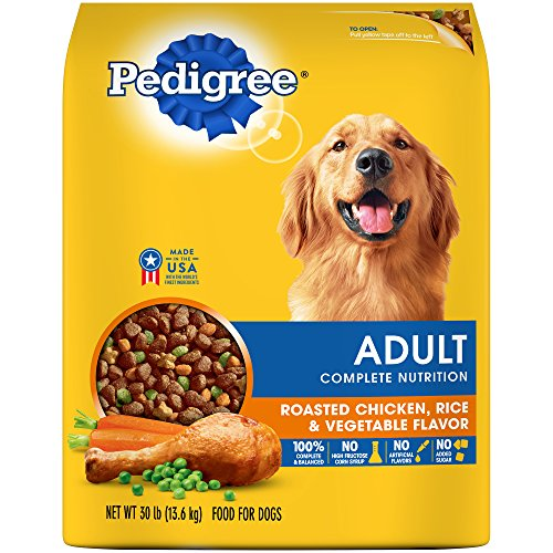 Pedigree Complete Nutrition Adult Dry Dog Food Roasted Chicken, Rice & Vegetable Flavor, 30 Lb. Bag (Best Food For Beagles)