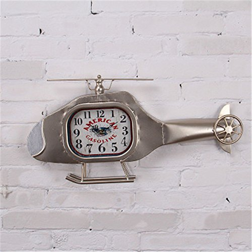Wall Clock WERLM Creative children's room bedroom minimalist study children's room mute Iron, Silver by Wall Clock