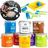 DISCOVERY KIDS Washable Deluxe Outdoor Chalk Paint Set, Create Oversized Sidewalk Art, 18-Piece Set Includes Paints, Foam Brushes, Mixing Sticks, Tray, Great Gift for Children, Easy Cleanup – MULTI-CO