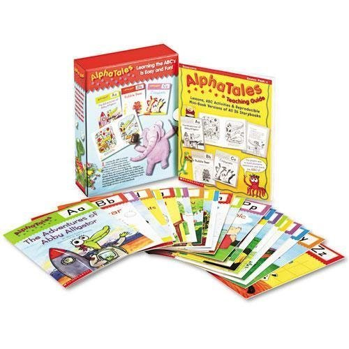 Scholastic 0545067642 Alpha Tales Learning Library Set Grades K-1 Softcover 16 Pages