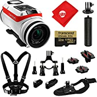 TomTom Bandit 4K GPS 32GB Action Camera + Chest and Wrist Strap + Bike Mount + Opteka HandGrip + Tripod Adapter