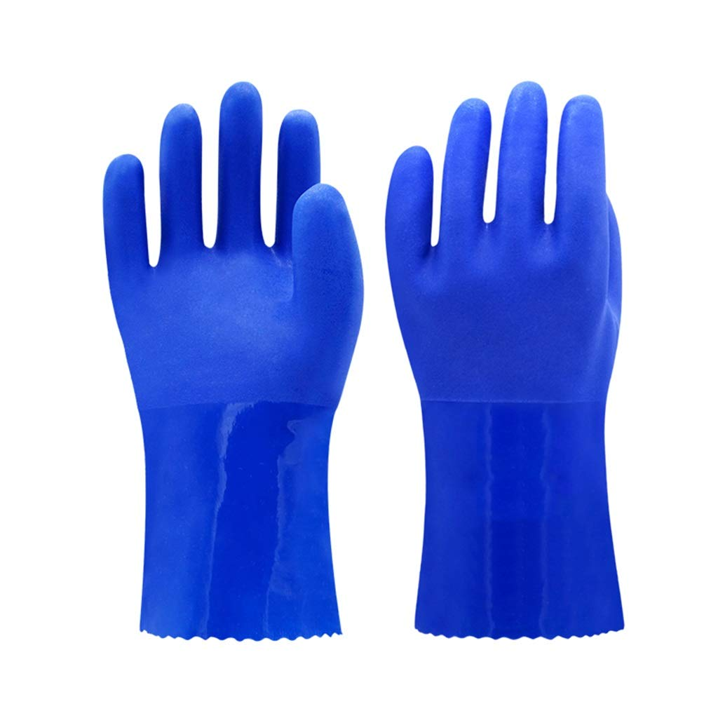 Rubber Industrial Gloves, Oil and Acid and Alkali Resistant Chemical Gloves Wear-Resistant Anti-Skid (10 Pairs) FKYGDQ