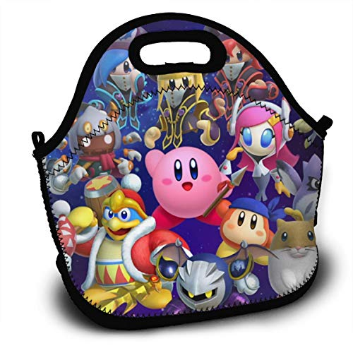NEWXINGXINGF196 Kirby_Galaxy Unisex Child Adult Lunch Bag Girls Boy 3D Printed Bento Box Lunchbox Thermal Insulated Storage Container Picnic School Work Tote Recycled Insulated Shoulders Food Bag