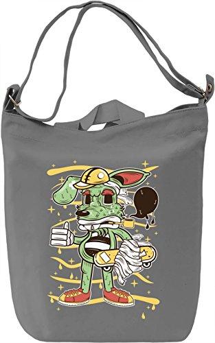 Skater rabbit Borsa Giornaliera Canvas Canvas Day Bag| 100% Premium Cotton Canvas| DTG Printing|