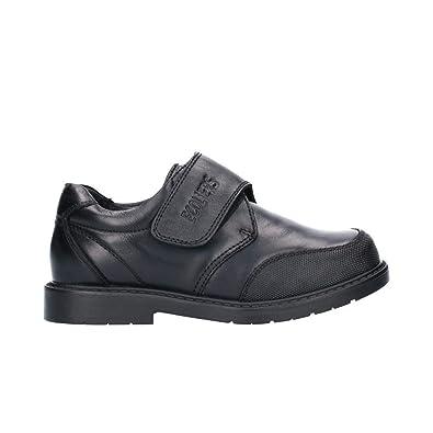 Zapato colegial Velcro Puntera Reforzada Negro: Amazon.es: Zapatos y complementos