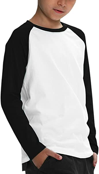 Youth 3//4 Sleeve Baseball T-Shirt Raglan Jersey Boys Girls Child Tee XS-XL NEW