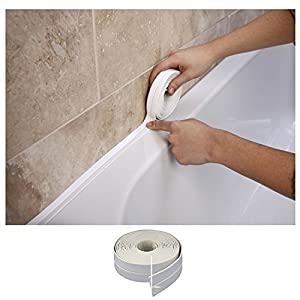 bath wall sealing strip 38mm x by supadec amazon. Black Bedroom Furniture Sets. Home Design Ideas