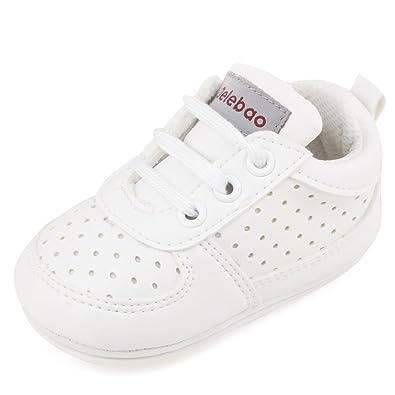 separation shoes c4444 e12cf DELEBAO Stivaletti Neonata Scarpe Bimbo bebé Primi Passi Scarpine in PU  Pelle Prima Infanzia Calzature Neonato con Cordoncino Bambino Ragazzi e ...