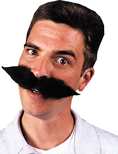 Super Schnauzer Black - Product Description - Large Wool Character Mustache. The Classic German Or European. (Classic Scary Halloween Characters)