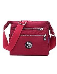 Bagtopia Women's Lightweight Casual Nylon Crossbody Shoulder Bag Waterproof Multi-Pockets Satchel Purse
