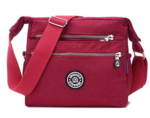 c85a1ee276 Bagtopia Women s Lightweight Casual Nylon Crossbody Shoulder Bag Waterproof  Multi-Pockets Satchel Purse