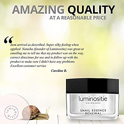 Snail Repair Cream - Effective Anti-Aging Korean Skin Care Moisturizer – All In One Recovery Snail Mucin Essence Cream – Collagen Boosting Gel (1.7 Oz)