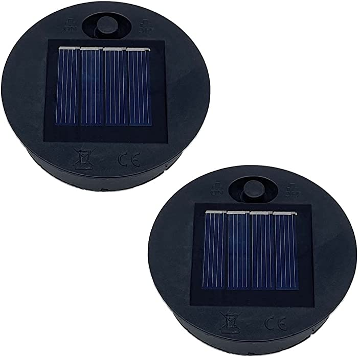 2 Pack Replacement Solar Light Parts Solar Light Replacement Top for Outdoor Hanging Lanterns