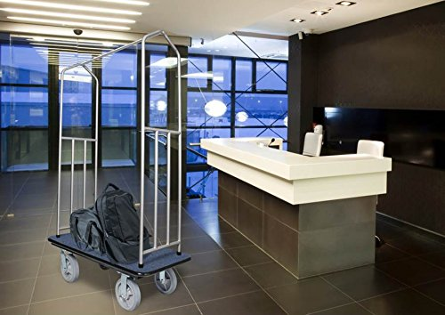 Chrome Bellman's Cart with Blue Deck