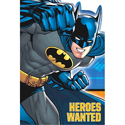 Batman Heroes 8 Postcard Invitations, Envelopes, Stickers, Seals, Party Supplies ()