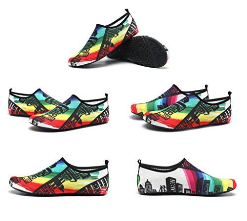 Shoes Water Sneakers Sport Rainbow Women's White Dry Printed Bigood Quick Men Aqua OpwTwqCa