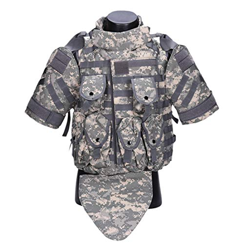 WOLFBUSH Tactics Vest Phantom Protective Modular Vest 900D Oxford Body Body Armor Airsoft Wargame Hunting Outdoor Sports Activities (ACU)