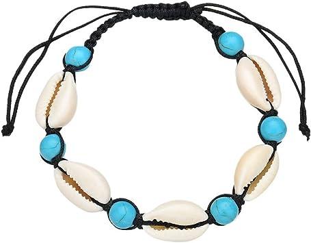Imitation Turquoise Perles Argent Cheville Plage Bracelet Chaîne De Pied