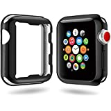 For Apple Watch Case 42mm and 38mm, Scratch-resistant and Shock-proof Soft TPU All-around Protective Slim iwatch Case for Apple Watch Series 3,Series 2 (Black, 42mm)