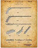 vintage hockey - Hockey Stick - 11x14 Unframed Patent Print - Great Gift for Hockey Fans, Hockey Players or Boy's Room Decor