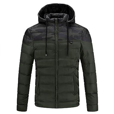 33f689015c00a Amazon.com: Realdo Mens Warm Coat Big Promotion, Autumn Winter Packwork  Pocket Camouflage Zipper Hooded Jacket: Clothing